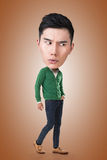Hombre principal grande asiático divertido Imagen de archivo