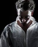Hombre psico extraño indeterminado Imagen de archivo libre de regalías