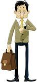 Hombre puntual stock de ilustración