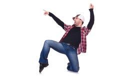 Hombre que baila danzas modernas Foto de archivo libre de regalías