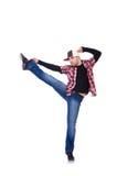 Hombre que baila danzas modernas Imágenes de archivo libres de regalías