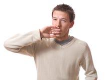 Hombre que bosteza Imagen de archivo