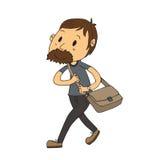 Hombre que camina Imágenes de archivo libres de regalías