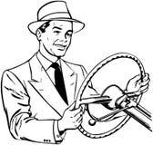 Hombre que conduce el coche libre illustration