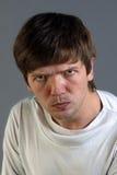 Hombre que consigue enojado Fotografía de archivo libre de regalías