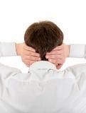 Hombre que cubre sus oídos Imagen de archivo