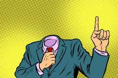 Hombre que destaca el finger stock de ilustración