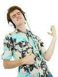 Hombre que disfruta de música Fotos de archivo