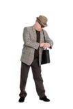 Hombre que espera Imagen de archivo