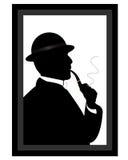 Hombre que fuma un tubo Imagenes de archivo