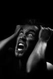 Hombre que grita Fotos de archivo