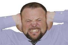 Hombre que grita Imagen de archivo