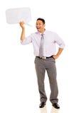 Hombre que grita en burbuja Foto de archivo libre de regalías
