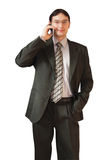 Hombre que habla en el teléfono foto de archivo