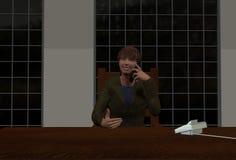 Hombre que habla en el teléfono Fotos de archivo