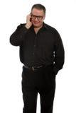 Hombre que habla en el teléfono Foto de archivo libre de regalías