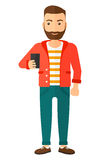 Hombre que hace el selfie ilustración del vector