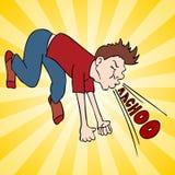 Hombre que hace estornudo ruidoso Imagenes de archivo