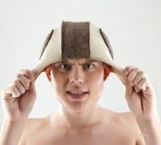 Hombre que hace la cara divertida Imagen de archivo libre de regalías