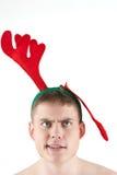 Hombre que hace la cara divertida Fotografía de archivo libre de regalías