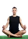 Hombre que hace la meditación Foto de archivo libre de regalías