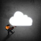 Hombre que juega melodía del éxito Foto de archivo