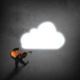 Hombre que juega melodía del éxito Foto de archivo libre de regalías
