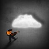 Hombre que juega melodía del éxito Imagen de archivo