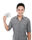 Hombre que muestra el dinero Fotos de archivo libres de regalías
