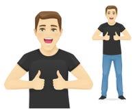 Hombre que muestra el pulgar para arriba libre illustration