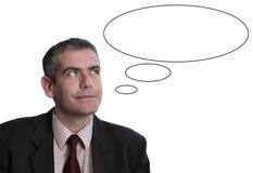 Hombre que piensa en? Foto de archivo libre de regalías
