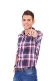 Hombre que señala con el dedo Imágenes de archivo libres de regalías
