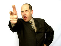 Hombre que señala el dedo Foto de archivo