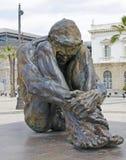 Hombre que se agacha, Cartagena Foto de archivo libre de regalías