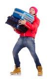 Hombre que se prepara para el invierno Imagen de archivo libre de regalías