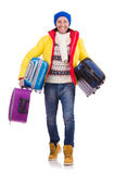 Hombre que se prepara para el invierno Fotografía de archivo libre de regalías