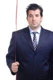 Hombre que sostiene una cadena roja Fotos de archivo