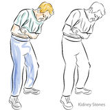 Hombre que tiene dolores de estómago Imagen de archivo libre de regalías