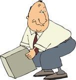 Hombre que toma un rectángulo libre illustration