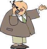 Hombre que usa un teléfono celular ilustración del vector