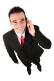 Hombre que usa un teléfono móvil Imagenes de archivo