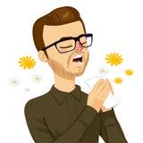 Hombre que va a estornudar Imágenes de archivo libres de regalías