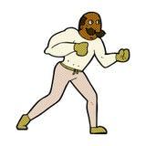 hombre retro del boxeador de la historieta cómica Imagenes de archivo