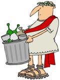 Hombre romano que saca la basura stock de ilustración