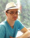 Hombre rubio joven con los ojos azules Imágenes de archivo libres de regalías