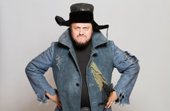 Hombre ruso loco con el oído Imagen de archivo libre de regalías