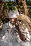Hombre santo en el complejo de Lalibela Foto de archivo