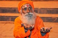 Hombre santo indio Fotos de archivo libres de regalías