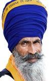 Hombre sikh en Amritsar, la India. Foto de archivo libre de regalías