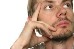 Hombre sin afeitar foto de archivo